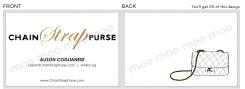 Chain Strap Purse - Fashion Blog. Logo design and business cards.
