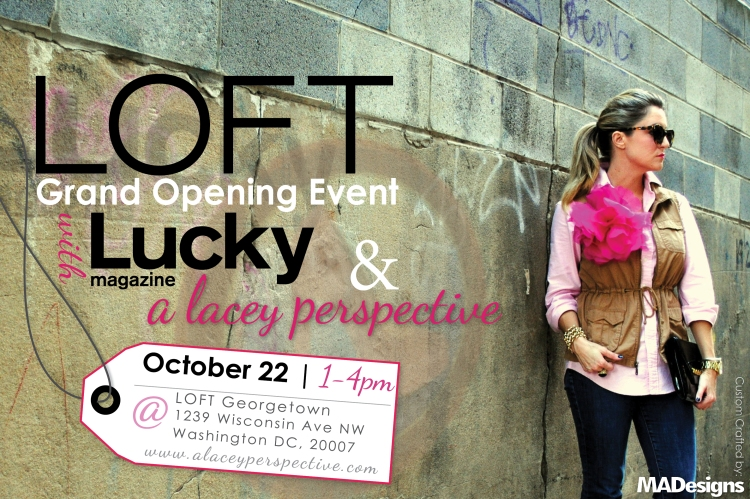 A Lacey Perspective LOFT Grand Opening Flyer