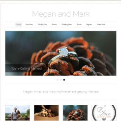 Modern/Trendy Wedding Website